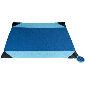Ticket to the Moon Beach Blanket 213x213cm, royal blue/sky blue